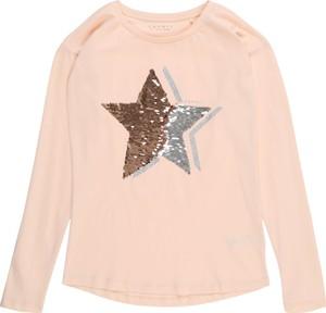 Różowa bluzka dziecięca Esprit z długim rękawem