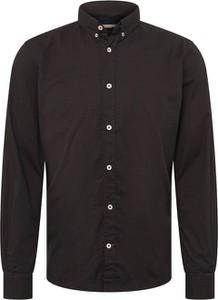 Czarna koszula Tom Tailor z długim rękawem z klasycznym kołnierzykiem