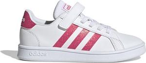 Buty sportowe dziecięce Adidas ze skóry na rzepy