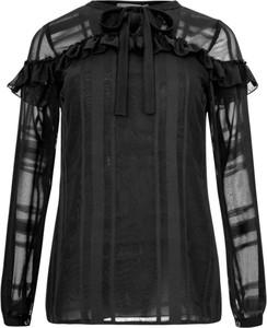 Czarna bluzka Manifiq&Co. z długim rękawem z tkaniny