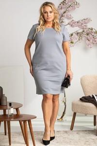 Sukienka KARKO ołówkowa z krótkim rękawem w stylu casual