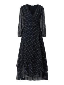 Granatowa sukienka Liu-Jo z długim rękawem