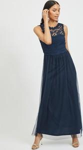 Sukienka Vila maxi z okrągłym dekoltem