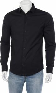 Czarna koszula Casual Friday z długim rękawem