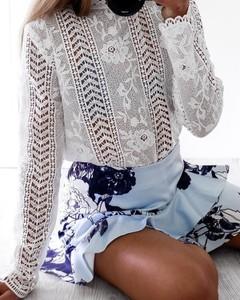 Bluzka Kendallme z okrągłym dekoltem z długim rękawem