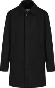 Czarny płaszcz męski Bugatti w stylu casual