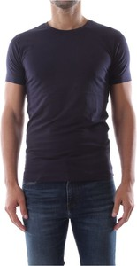 Niebieski t-shirt Calvin Klein w stylu casual