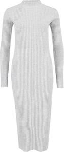 Sukienka G-Star Raw z długim rękawem z okrągłym dekoltem midi