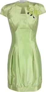 Sukienka Fokus mini z okrągłym dekoltem bombka