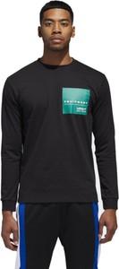 Granatowa koszulka z długim rękawem Adidas z bawełny