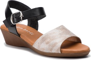 Sandały Sergio Bardi z nubuku z klamrami