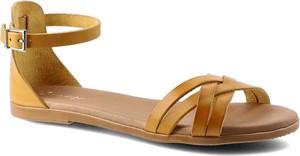 Sandały Maciejka z klamrami w stylu casual ze skóry