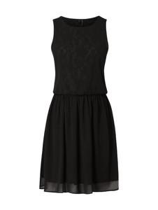 Brązowa sukienka Vero Moda rozkloszowana z szyfonu bez rękawów