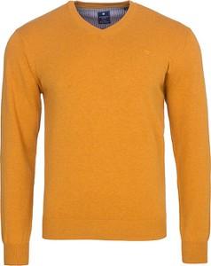 Żółty sweter Redmond w stylu casual