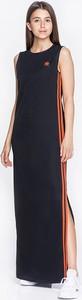 Czarna sukienka Adidas z okrągłym dekoltem maxi