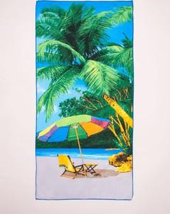 Yoclub Ręcznik plażowy prostokątny palmy i leżak