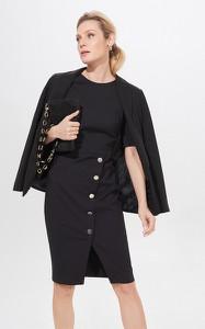 Czarna sukienka Mohito asymetryczna