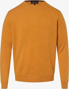 Złoty sweter Andrew James w stylu casual z kaszmiru