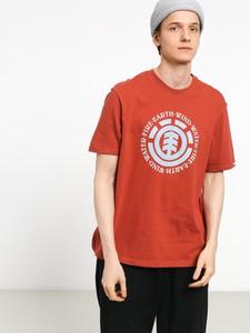 Czerwony t-shirt Element z bawełny z krótkim rękawem