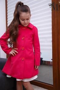 Różowy płaszcz dziecięcy Mała Mi