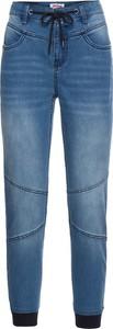 Granatowe jeansy bonprix john baner jeanswear z bawełny