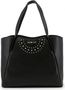 Czarna torebka Love Moschino w stylu glamour