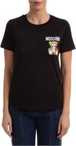 T-shirt Moschino z bawełny z okrągłym dekoltem w młodzieżowym stylu