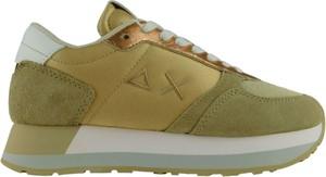 Zielone buty sportowe Sun68 w sportowym stylu z płaską podeszwą