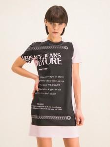 Czarna sukienka Versace Jeans mini w stylu casual prosta