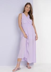 Sukienka born2be kopertowa bez rękawów