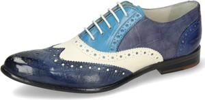 Niebieskie półbuty Melvin & Hamilton z płaską podeszwą w stylu casual