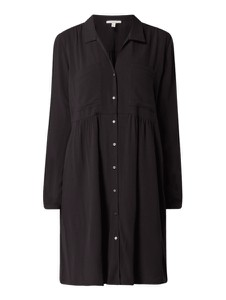 Czarna sukienka Esprit mini z kołnierzykiem