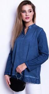 0c2e2c3b4c Bluzka Dstreet z jeansu z dekoltem w kształcie litery v w stylu casual