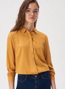 Żółta koszula Sinsay z kołnierzykiem w stylu casual