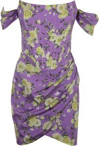 Sukienka Giuseppe Di Morabito mini z krótkim rękawem z okrągłym dekoltem