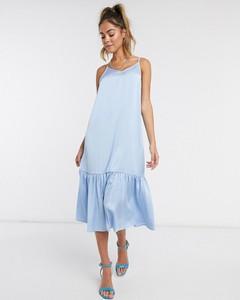 Niebieska sukienka Vero Moda baskinka