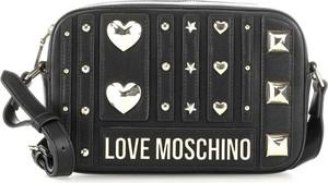 Czarna torebka Love Moschino z aplikacjami