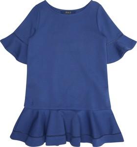 3c1a48ae7d Niebieska sukienka dziewczęca POLO RALPH LAUREN z bawełny
