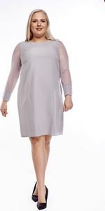 Sukienka Fokus ołówkowa z długim rękawem