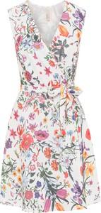 Sukienka bonprix BODYFLIRT boutique rozkloszowana bez rękawów midi