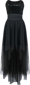 Granatowa sukienka Camill Fashion maxi z tiulu bez rękawów