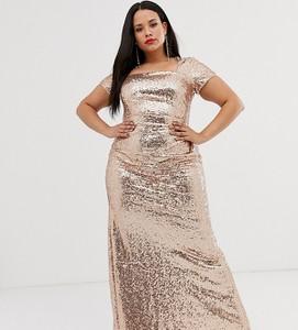 Złota sukienka City Goddess Plus