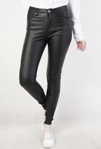 Spodnie damskie ze skóry ekologicznej, kolekcja wiosna 2020