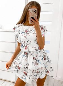 Sukienka Pakuten trapezowa z okrągłym dekoltem