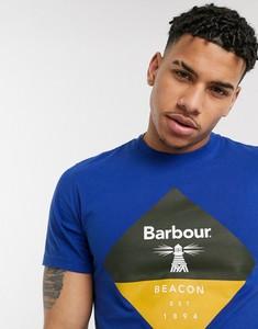 Niebieski t-shirt Barbour Beacon