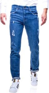 Niebieskie jeansy Recea z jeansu