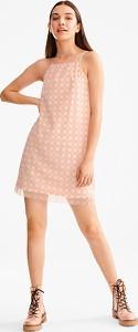 Różowa sukienka CLOCKHOUSE trapezowa