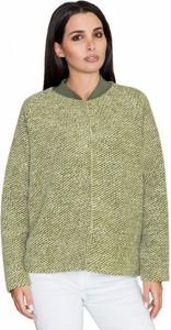Zielona kurtka Figl z wełny