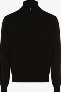 Czarny sweter Andrew James w stylu casual z bawełny