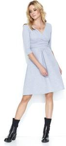 Sukienka Makadamia z dresówki w stylu casual rozkloszowana